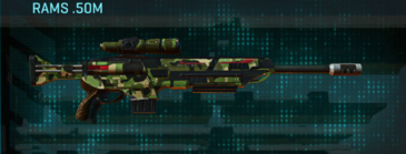 Jungle forest sniper rifle rams .50m