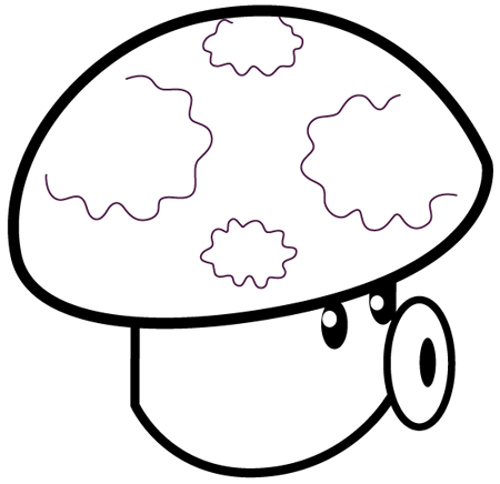 puff shroom plants vs zombies coloringpng