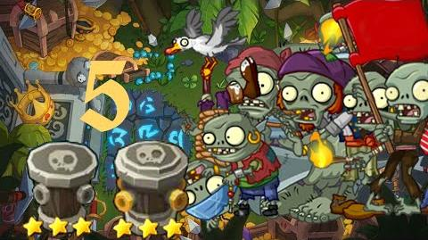 PvZ Online - Adventure Mode - Treasure Island 5