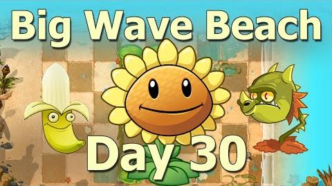 Big Wave Beach Day 30 - Plants Vs Zombies 2