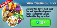 Captain Combustible Ally Pack
