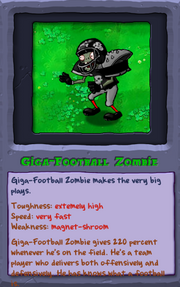 Giga-football zombie pvz