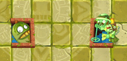 Jackfruit blocking Lost Guide Zombie's tunnel