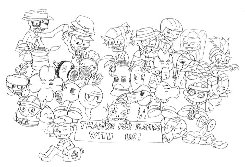 Image thanks plants vs zombies wiki fandom for Pvz coloring pages