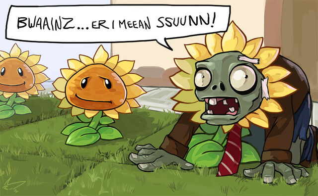 File:Zombie deguise as sunflower .jpg