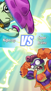 PvZ Heroes Super Brainz vs Nightcap