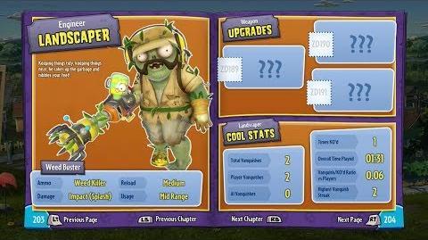 Landscaper (In-Game) 17 Plants vs Zombies Garden Warfare