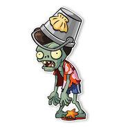 PVZ2 BWB Pompadour Buckethead Zombie
