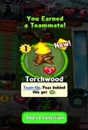 Player receiving the Torchwood