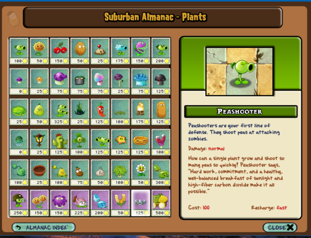File:PVZ 1 Plants Almanac modded - Peashooter.png