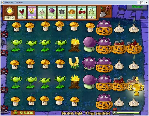 File:PvZ Survival Night Easy.jpg