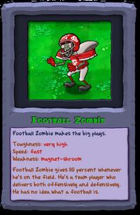 Almanac Card Football Zombie