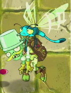 Zombug carrying a Buckethead