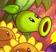 Peashooter on title screen