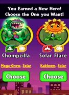 Choice between Chompzilla and Solar Flare