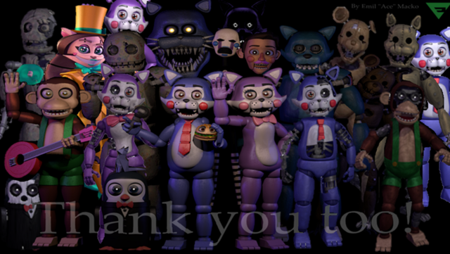 File:Fnac thank you with fnac 2 animatronics by fnatirfan-d9twxay.png