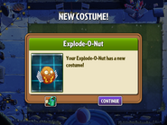 Getting Explode o Nut Costume