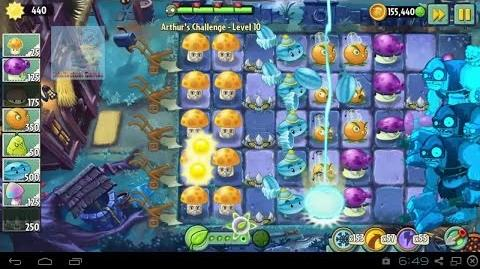 Arthur's Challenge Level 7 to 10 Plants vs Zombies 2 Dark Ages