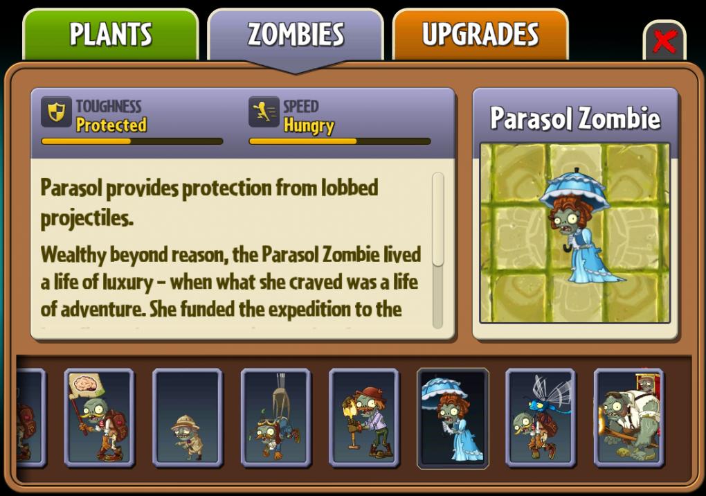 Parasol Zombie Plants Vs Zombies Wiki Fandom Powered