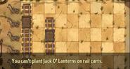 Jack O' Lantern on Minecart error message