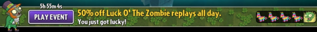 File:50% off replays Luck O' The Zombie Banner.png