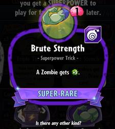 Brute Strength new statistics