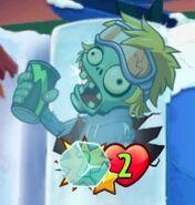 Energy Drink Zombie is Frozen
