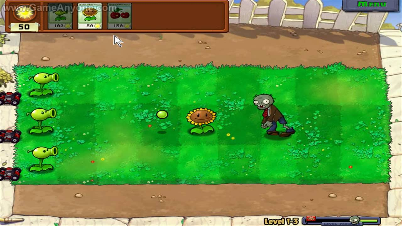 Level 1 3 Plants Vs Zombies Wiki Fandom Powered By Wikia