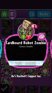 Cardboard Robot Zombie Description