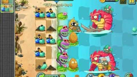 PvZ2 Big Wave Beach - Day 16