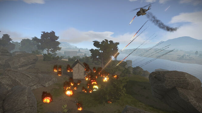 Attack Helicopter Napalm