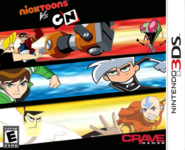Image Nicktoons Vs Cartoon Network 3ds Png Playstation