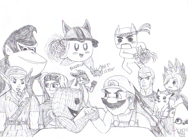 File:Smash bros x all stars taking a break by leehatake93-d69izx1.png