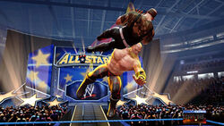 Kane chokeslams Sgt Slaughter at All Stars Arena