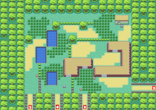 Kanto Safari Zone North Map