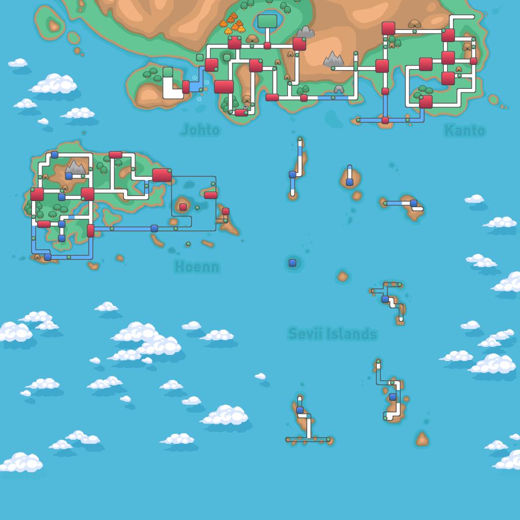 Sevii Islands Map Pokemon Revolution Online