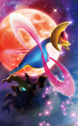 Cresselia and Darkrai DP4 artwork