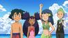 Dawn, Iris, and Ash at the Beach