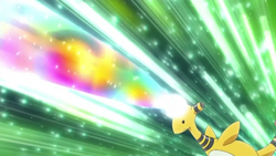 Train crew's Ampharos Signal Beam