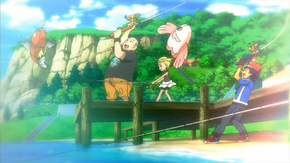 Summer Camp fishing competition