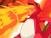 Ash Charmeleon Flamethrower