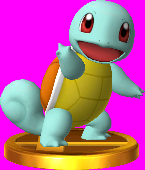 Squirtle trophy SSB3DS