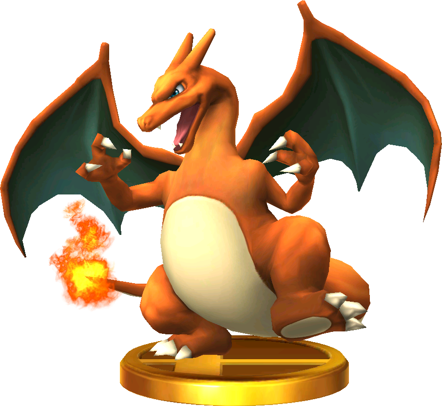 File:Charizard trophy SSB3DS.png