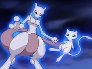 Mew and Mewtwo in Johto League Champions opening