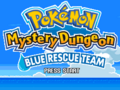 Pokémon Mystery Dungeon Blue Rescue Team Title Screen.png
