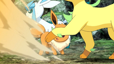 Virgil Leafeon Sand-Attack