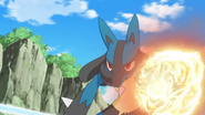 Korrina Lucario Power-Up Punch