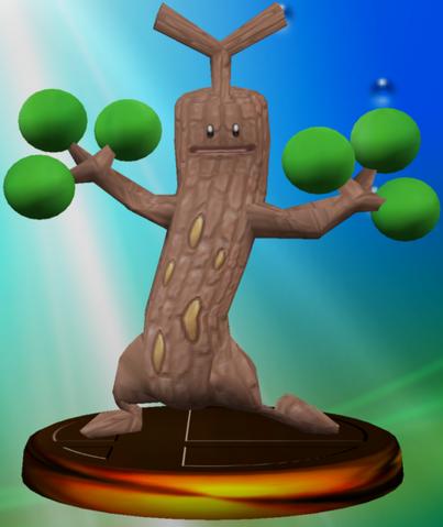 File:Sudowoodo trophy SSBM.png