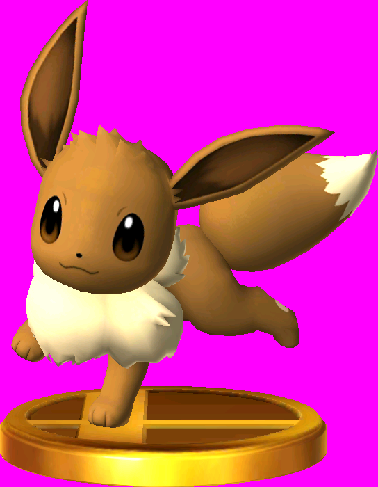 File:Eevee trophy SSB3DS.png