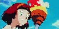Female torchbearer